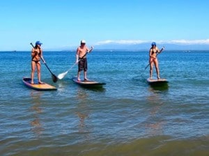 Stand-Up Paddle Boarding at Playa Blanca!