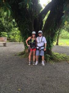 Me and my dad at Canopy Tour at Vista Los Suenos
