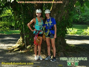 Lauren and I all geared up for our big adventure!