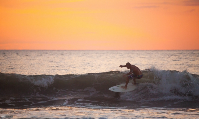 Sunset Surfing in Costa Rica