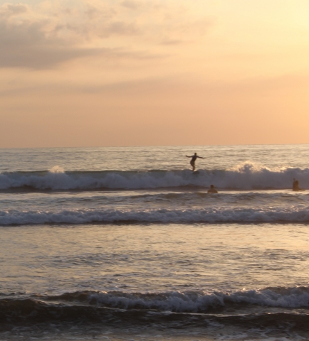 Sunset surf at Room2Board