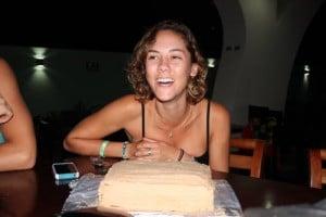 Yael celebrating her birthday at Room2Board