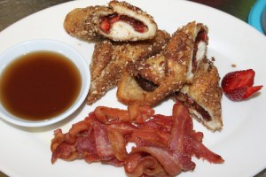 The French toast is totally gourmet and definitely not your typical hostel food!