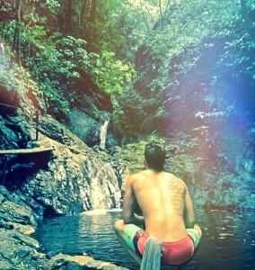 Matty on the waterfall tour