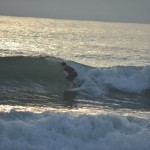 Surfing at Playa Jaco