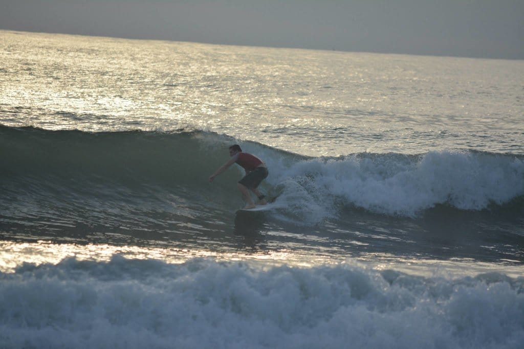 Surfing at Playa Jaco