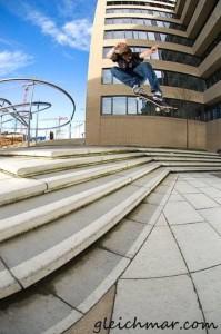 Skateboarding back in Germany.