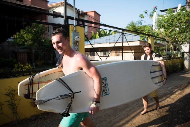 Surf time at Room2Board Hostel & Surf School