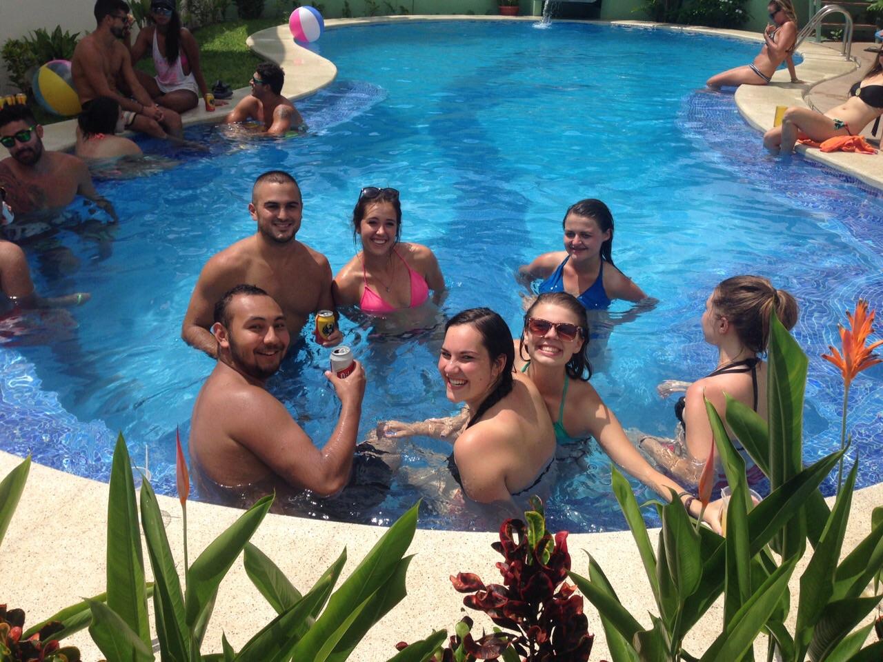 Pool Party at Room2Board Hostel & Surf School