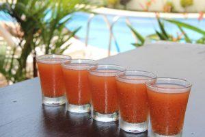 chili guaro shots