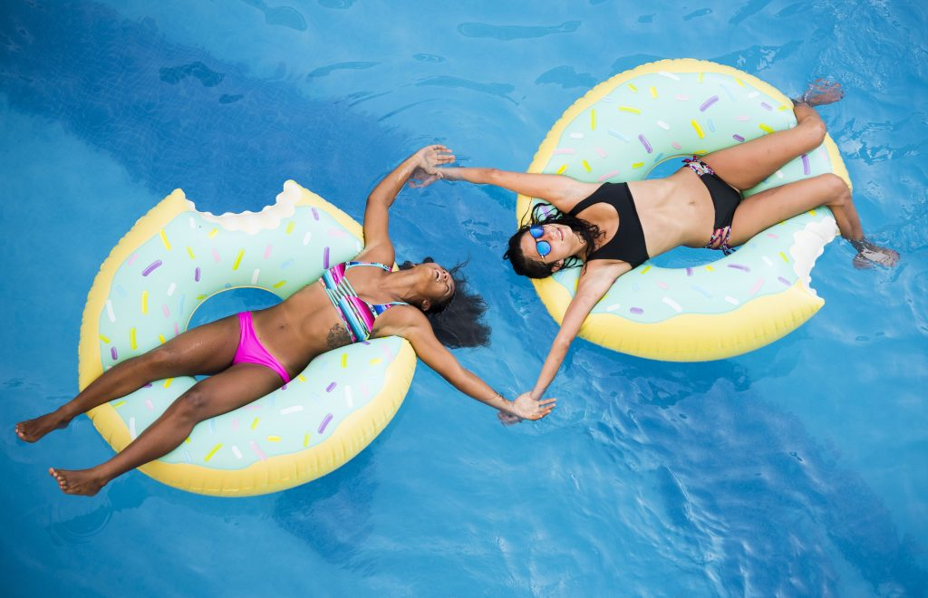 Enjoying the pool at Room2Board Hostel & Surf School
