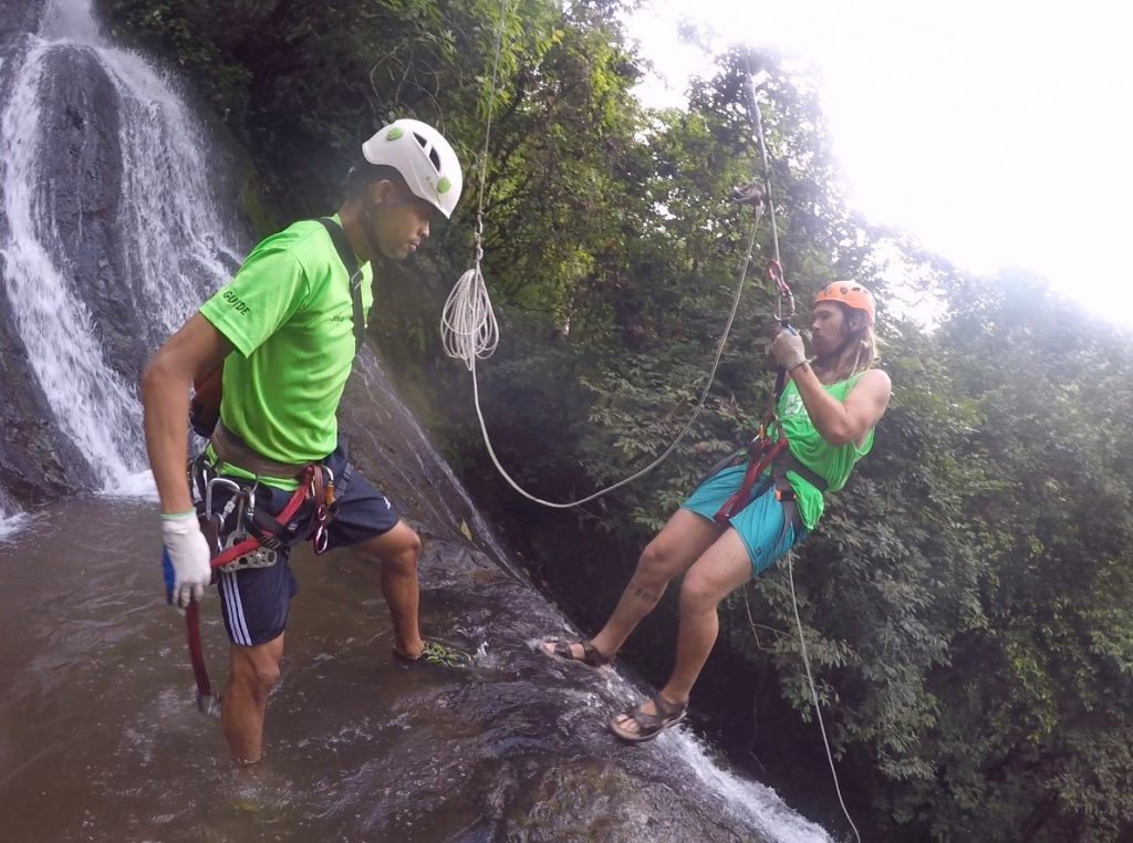 waterfall Repelling