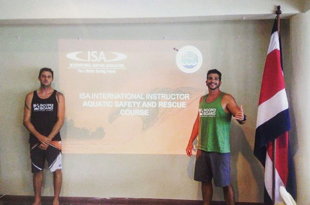 Beto and Nate, our ISA certified surf instructors