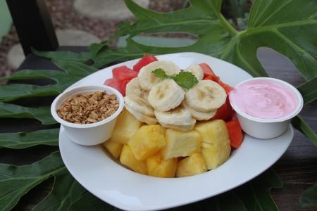 fruit and yogurt at Room2Board