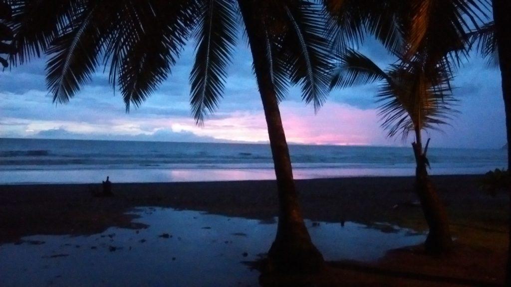sunset on Jaco Beach